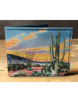 leather-desert-cactus-wallet,-gift-for-men,-unique-wallet,-leather-wallet,-interesting-wallet,-bifold-wallet,-colorful-wallet,-cool-wallet by etsy