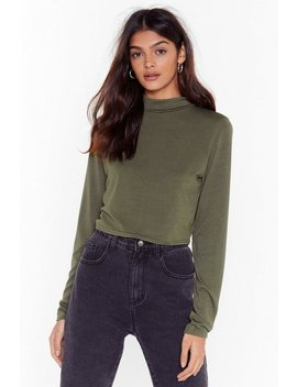knit-tight-high-neck-crop-top by nasty-gal