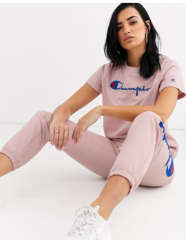 champion-reverse-weave-fitted-logo-t-shirt by champion