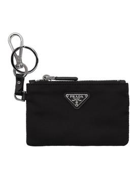 black-travel-pouch-keychain by prada