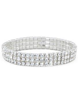 vieste-3-row-stretch-rhinestone-bracelet by vieste-rosa