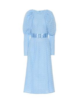 lace-puff-sleeve-midi-dress by rotate-birger-christensen