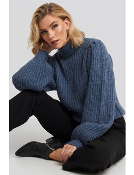 puff-sleeve-knitted-sweater-blue by na-kd