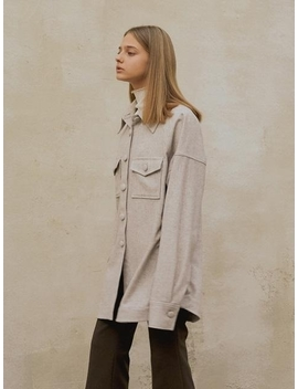 oversized-wool-shirt-oatmeal by mohan