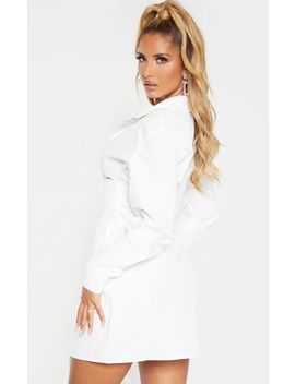 white-hook-&-eye-suspender-corset-detail-shirt-dress by prettylittlething
