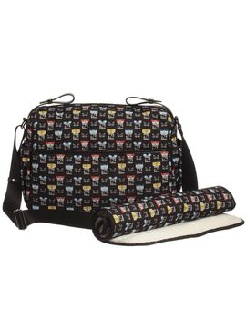 black-graphic-faces-baby-changing-bag-(32cm) by fendi