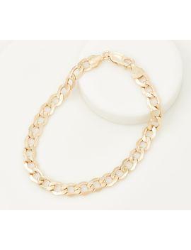 eternagold-beveled-curb-link-bracelet,-14k-gold-410g by the-eternagold-collection