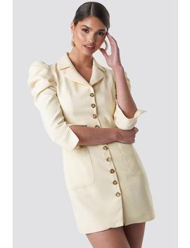 front-button-blazer-dress-yellow by tinamariaxnakd