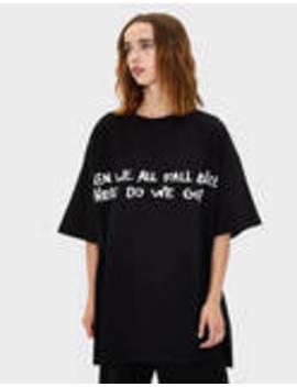 koszulka-z-napisem-billie-eilish-x-bershka by bershka