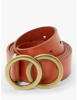 john-lewis-&-partners-olivia-double-o-ring-buckle-leather-belt,-dark-orange by john-lewis-&-partners