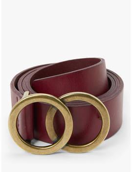 john-lewis-&-partners-olivia-double-o-ring-buckle-leather-belt,-claret by john-lewis-&-partners