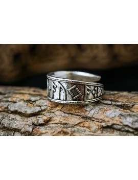 mens-runic-ring,-heathen-ring,-rune-ring,-odin-ring by etsy