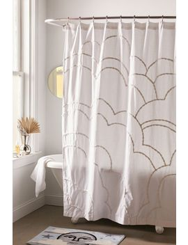 aella-tufted-cloud-shower-curtain by urban-outfitters