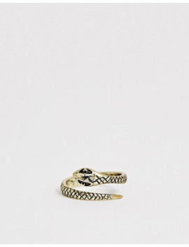 asos-design-plus-–-ring-mit-schlangendesign-in-poliertem-gold by asos