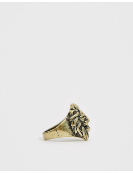 icon-brand-–-goldener-ring-mit-löwenkopf by asos