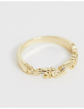 asos-design-–-goldfarbener-daumenring-mit-wellendetail by asos