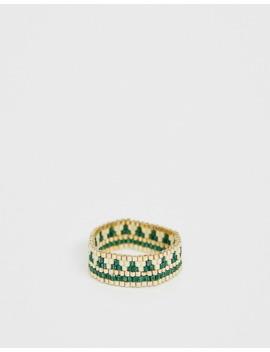 asos-design-–-goldener-ring-aus-gemusterten-schmuckstücken by asos