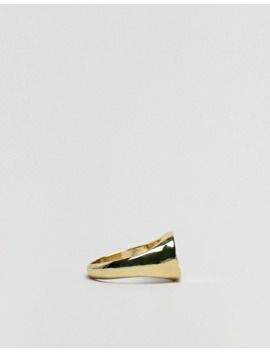 asos-design-–-goldener-ring-mit-münze-für-den-kleinen-finger by asos