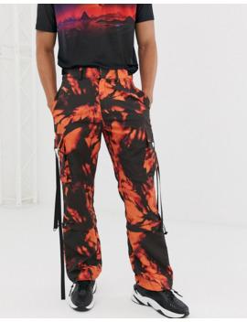 jaded-london---pantaloni-cargo-arancione-tie-dye-con-coulisse by asos