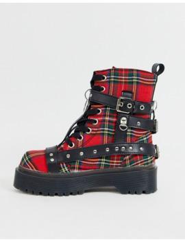 y-r-u---checked-boots-with-studs by yru