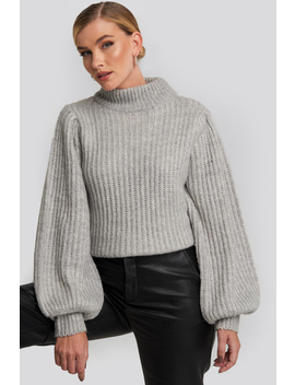 puff-sleeve-knitted-sweater-grey by na-kd