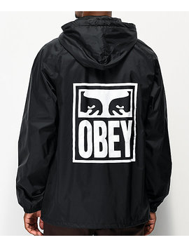 obey-eyes-icon-black-coaches-jacket by obey