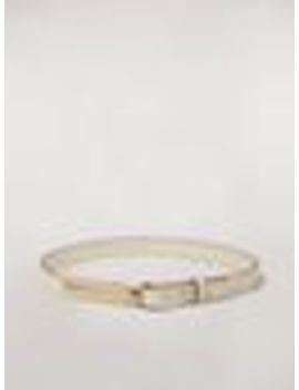 Calfskin Belt With Brass Detail by Marni