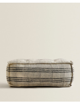 striped-pouffe--furniture---bedroom by zara-home