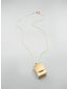 Necklace In Brass With Box Shaped Pendant by Marni