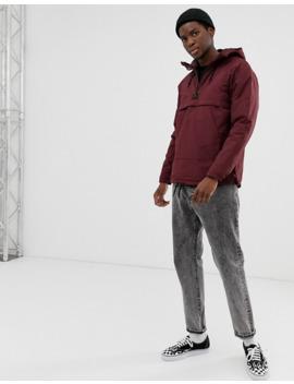 pull&bear-overhead-jacket-in-burgundy by pull&bear