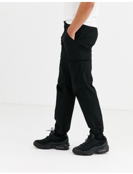 pull&bear---pantalon-cargo-fonctionnel---noir by pull&bear