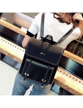 musa---faux-leather-flap-backpack by musa