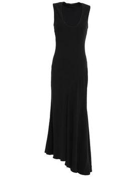 asymmetric-stretch-crepe-and-silk-satin-midi-dress by haider-ackermann