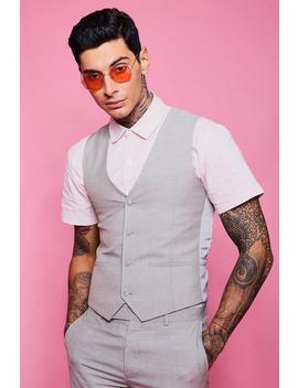 skinny-fit-plain-waistcoat by boohoo