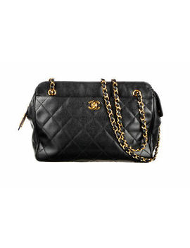 chanel-black-caviar-quilted-camera-bag by chanel