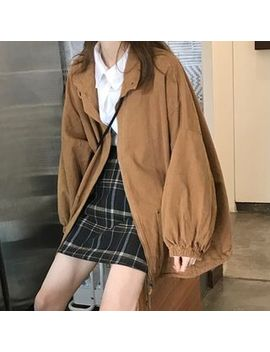 maisee---puff-sleeve-zip-jacket by maisee