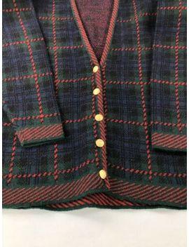 vintage-pendleton-womens-small-virgin-wool-cardigan-sweater-plaid-usa by pendleton