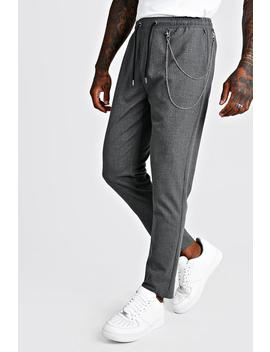 smart-jogger-trouser-with-chain-detail by boohoo
