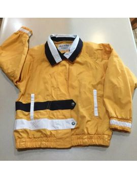 vintage-mulberry-street-nautical-jacket-womens-small-yellow-blue-white by &jacket