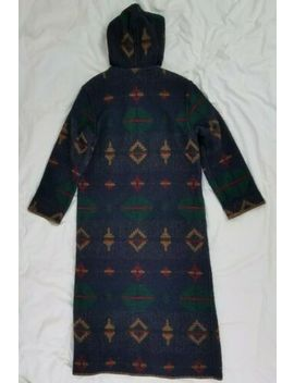 woolrich-vintage-womens-southwest-duster-blanket-coat-aztec-indian-wool-usa by woolrich