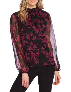 floral-print-top by vince-camuto