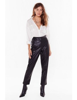 weve-got-to-faux-leather-croc-trousers by nasty-gal