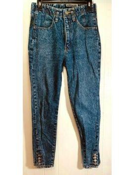 rare-vintage-jordache-80s-high-waist-ankle-snap-mom-jeans-size-30-x-28 by jordache