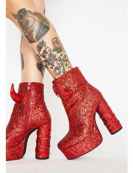 date-the-devil-glitter-boots by dolls-kill