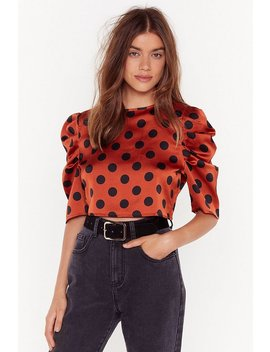 too-dot-to-handle-satin-crop-top by nasty-gal