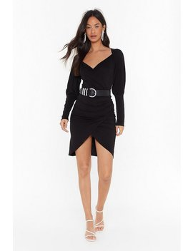 thats-a-wrap-plunging-mini-dress by nasty-gal