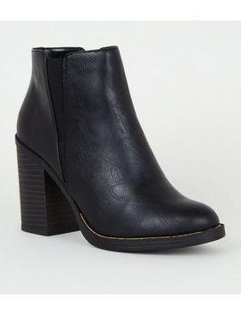 black-metal-trim-block-heel-boots by new-look