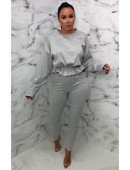 grey-frill-waist-loungewear-set---charli by femme-luxe