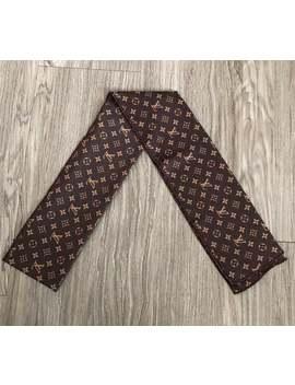 lv-brown-designer-headscarf-headwrap by etsy