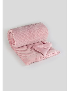 quilted-velvet-throw-(200cm-x-150cm) by matalan
